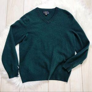 Men's Club Room Green Cashmere V-Neck Sweater